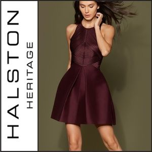 NWT ( Halston Heritage ) Structured Cocktail Dress